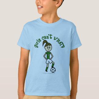 Light Girls Soccer in Green Uniform T-Shirt