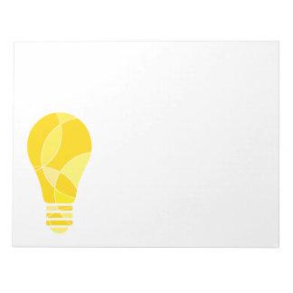 Light globe, ideas note pad