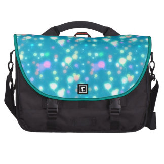 Light Glow Balloons Bright Blue Design Commuter Bags