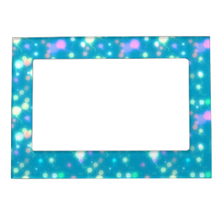 Light Glow Balloons Bright Blue Design Magnetic Picture Frame
