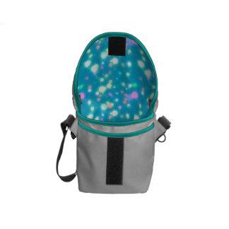 Light Glow Balloons Bright Blue Design Messenger Bag