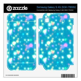 Light Glow Balloons Bright Blue Design Samsung Galaxy S 4G Skin