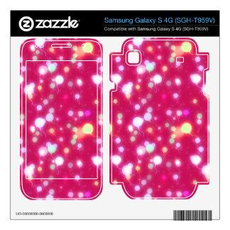Light Glow Balloons Dark Magenta Design Samsung Galaxy S 4G Decal