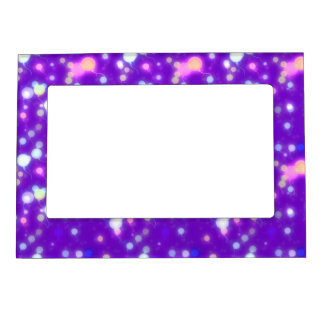 Light Glow Balloons Purple Colors Design Magnetic Picture Frame