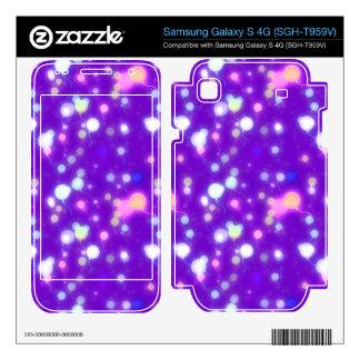 Light Glow Balloons Purple Colors Design Samsung Galaxy S 4G Skins