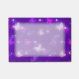 Light Glow Butterflies Violet Purple Design Post-it® Notes