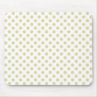 Light Gold Polka Dot Mouse Pad