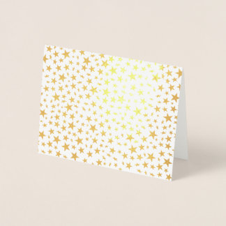Light Gold Stars Print Pattern Foil Card