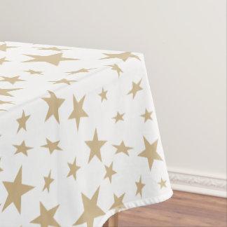 Light Gold Stars Print Pattern Tablecloth