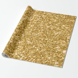 Light Gold Tone Glitter Print