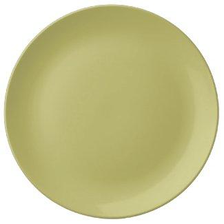 Light Golden Dinner Plate