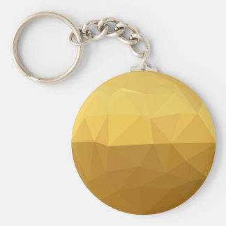 Light Goldenrod Abstract Low Polygon Background Keychain