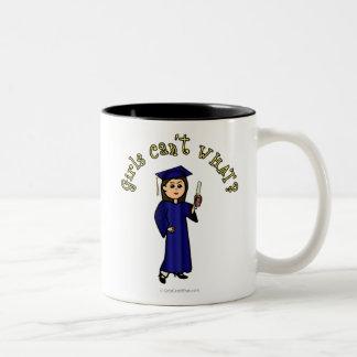 Light Graduate in Blue Two-Tone Coffee Mug