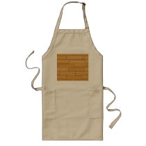 Light Grain Wood Pattern Long Apron