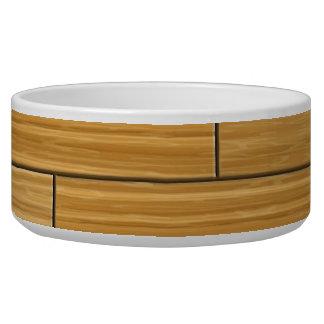 Light Grain Wood Pattern Pet Food Bowls