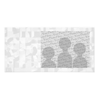 Light Gray Abstract Pattern. Card