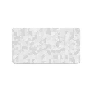 Light Gray Abstract Pattern. Address Label