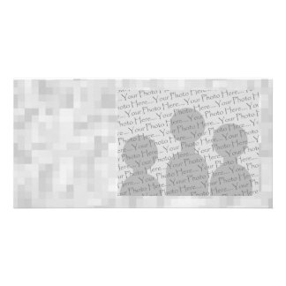 Light Gray Abstract Pattern. Photo Card