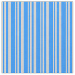 [ Thumbnail: Light Gray and Blue Colored Lined/Striped Pattern Fabric ]