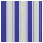 [ Thumbnail: Light Gray and Blue Colored Stripes Pattern Fabric ]