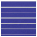 [ Thumbnail: Light Gray and Blue Pattern of Stripes Fabric ]