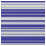 [ Thumbnail: Light Gray and Blue Striped Pattern Fabric ]