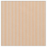 [ Thumbnail: Light Gray and Brown Colored Stripes Pattern Fabric ]
