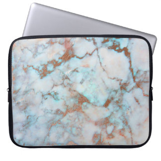 Light Gray And Brown Marble Stone Pattern Computer Sleeve