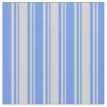 [ Thumbnail: Light Gray and Cornflower Blue Colored Pattern Fabric ]