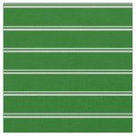 [ Thumbnail: Light Gray and Dark Green Colored Lines Fabric ]