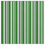 [ Thumbnail: Light Gray and Dark Green Striped/Lined Pattern Fabric ]