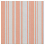[ Thumbnail: Light Gray and Dark Salmon Colored Lines Pattern Fabric ]