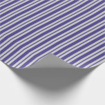 [ Thumbnail: Light Gray and Dark Slate Blue Colored Pattern Wrapping Paper ]