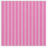 [ Thumbnail: Light Gray and Deep Pink Colored Lines Fabric ]