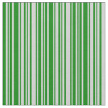 [ Thumbnail: Light Gray and Green Colored Lines Fabric ]