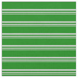 [ Thumbnail: Light Gray and Green Lined Pattern Fabric ]