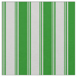 [ Thumbnail: Light Gray and Green Striped/Lined Pattern Fabric ]