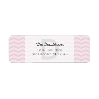 Light gray and pink chevron Return Address Labels