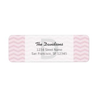 Light gray and pink chevron Return Address Labels