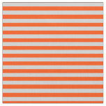 [ Thumbnail: Light Gray and Red Colored Lines Pattern Fabric ]