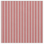 [ Thumbnail: Light Gray and Red Lined Pattern Fabric ]