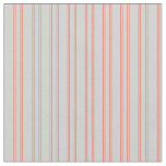 [ Thumbnail: Light Gray and Red Stripes/Lines Pattern Fabric ]