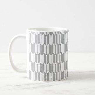 Light Gray and White Arrow Tails Mugs