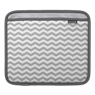 Light Gray and White Chevron Stripes iPad Sleeve