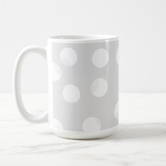 Light gray and white dotty pattern. coffee mug