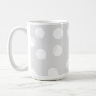 Light gray and white dotty pattern. coffee mug