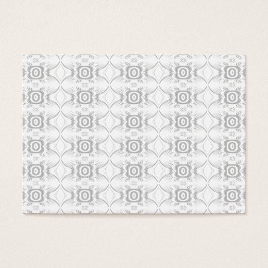 Light Gray and White Elegant Flower Pattern. Business Card