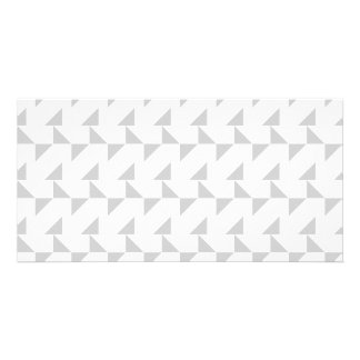 Light Gray and White Geometric Abstract Pattern. Card