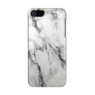 Light Gray And White Marble Stone Metallic Phone Case For iPhone SE/5/5s