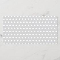Light Gray and White Polka Dot Pattern.
